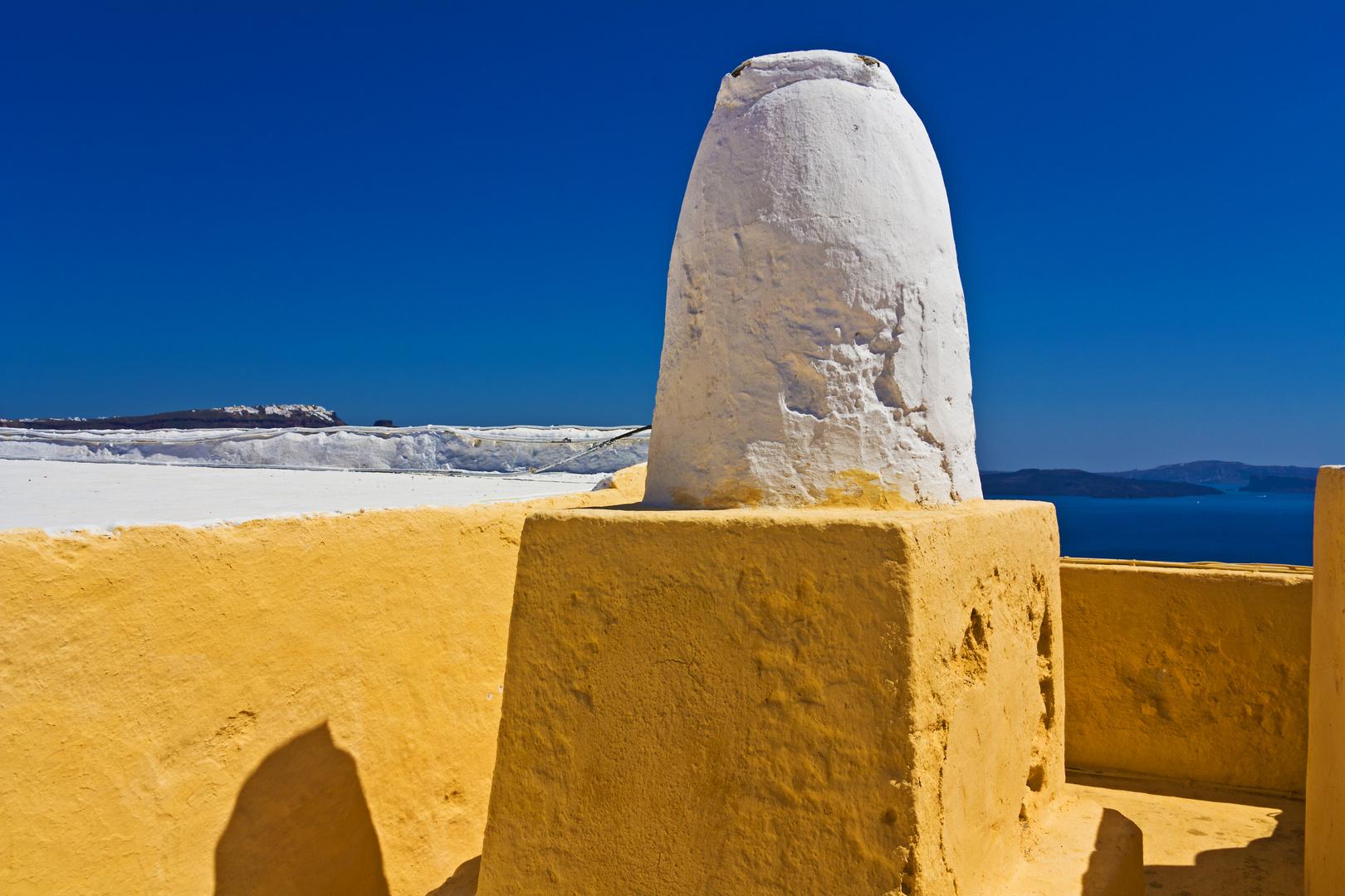 Kamin in Oia
