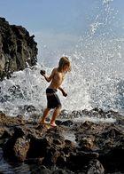 Kampf gegen die Welle