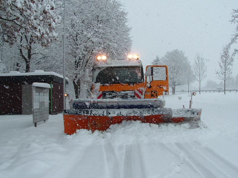 Kampf mit den Schnee