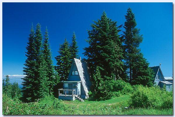 Kanadische Berghütte