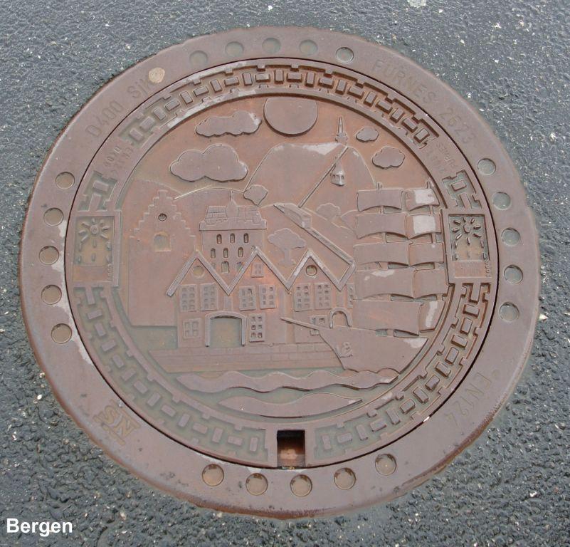Kanaldeckel aus Bergen/Norwegen
