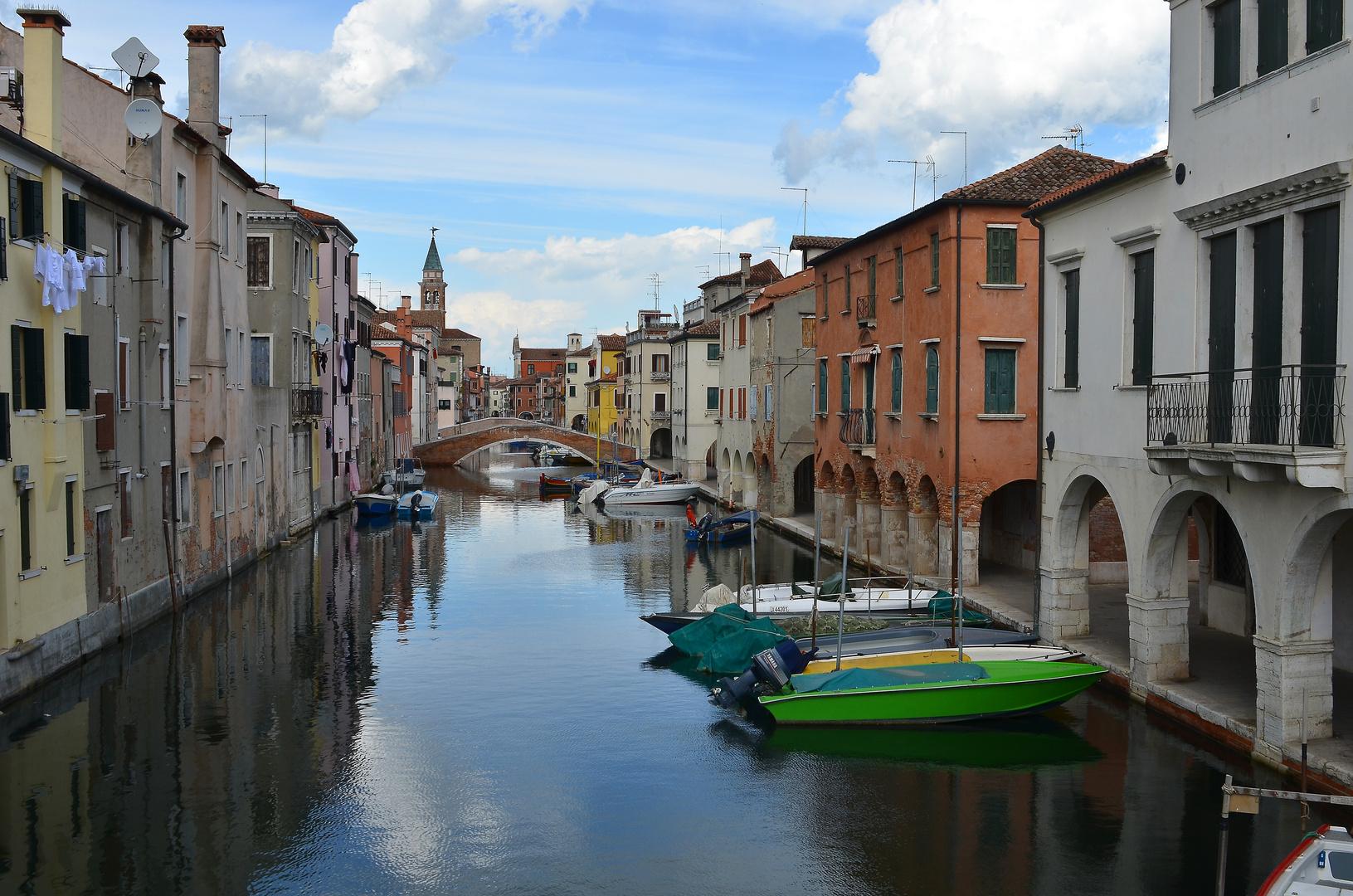 Kanalidylle in Gioggia das klein Venezien