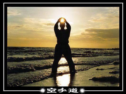 Kanku Dai bei Sonnenuntergang