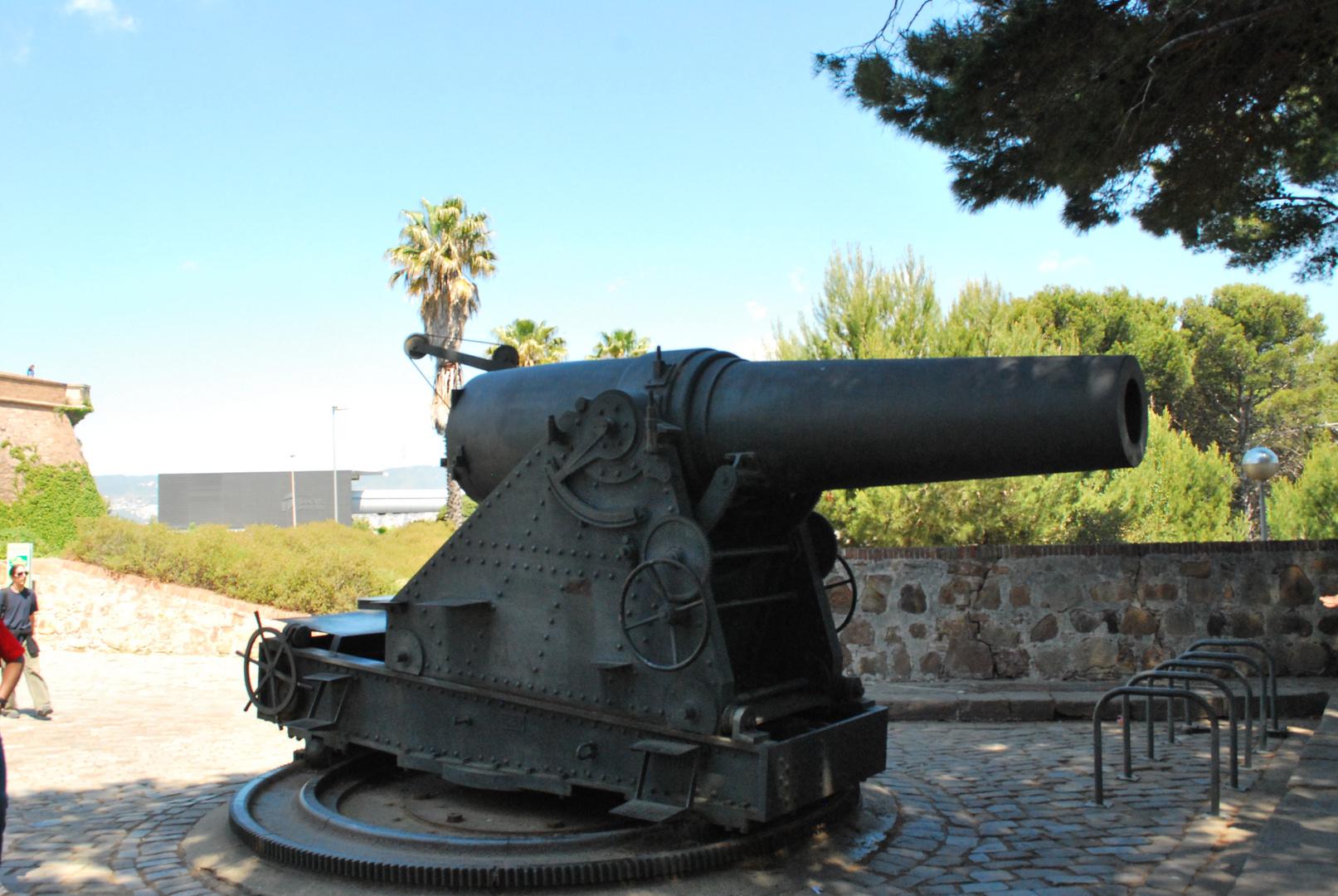 Kanone auf der Festung Barcelona