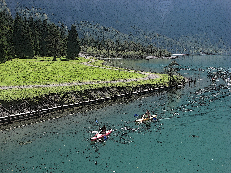 Kanuten am Heiterwanger See