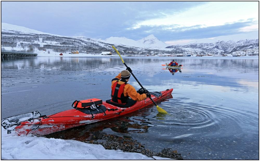 Kanutour auf dem Straumsfjord