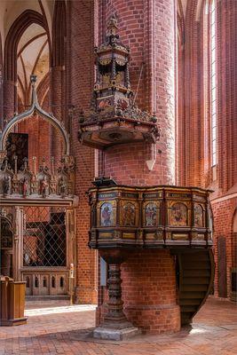 Kanzel der St.-Marien-Kirche in Stendal