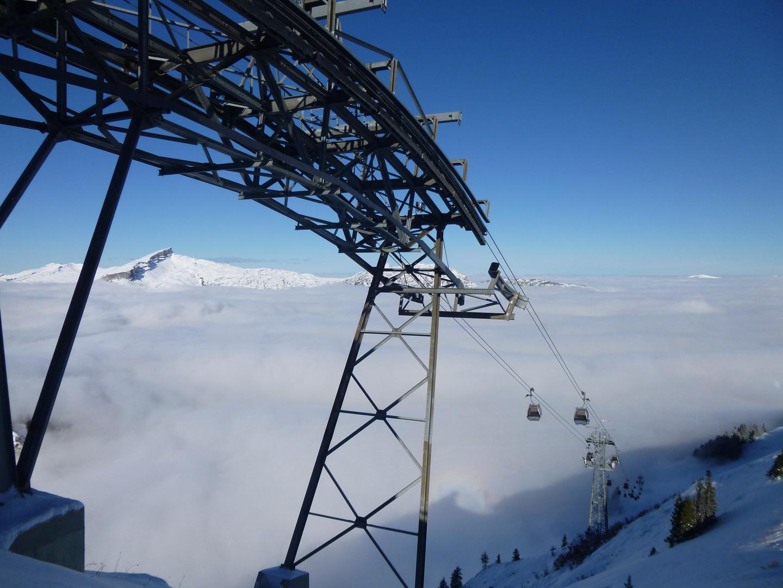 Kanzelwandbahn / Ifen mit Nebel im Kleinwalsertal
