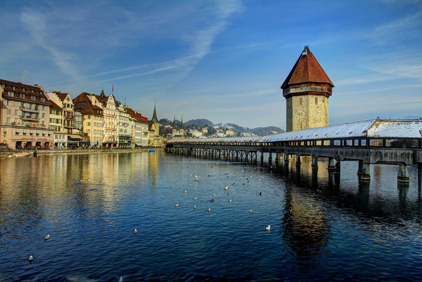Kapellbrücke im Winter (HDR)