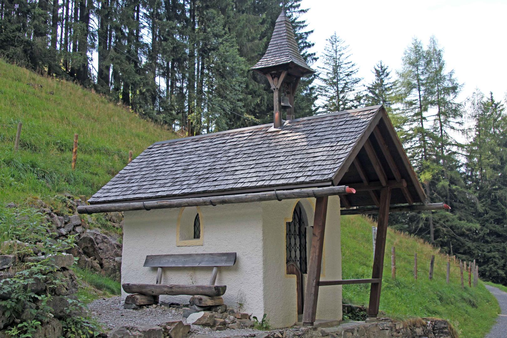 Kapelle am Wegrand in den Oberstdorfer Alpen