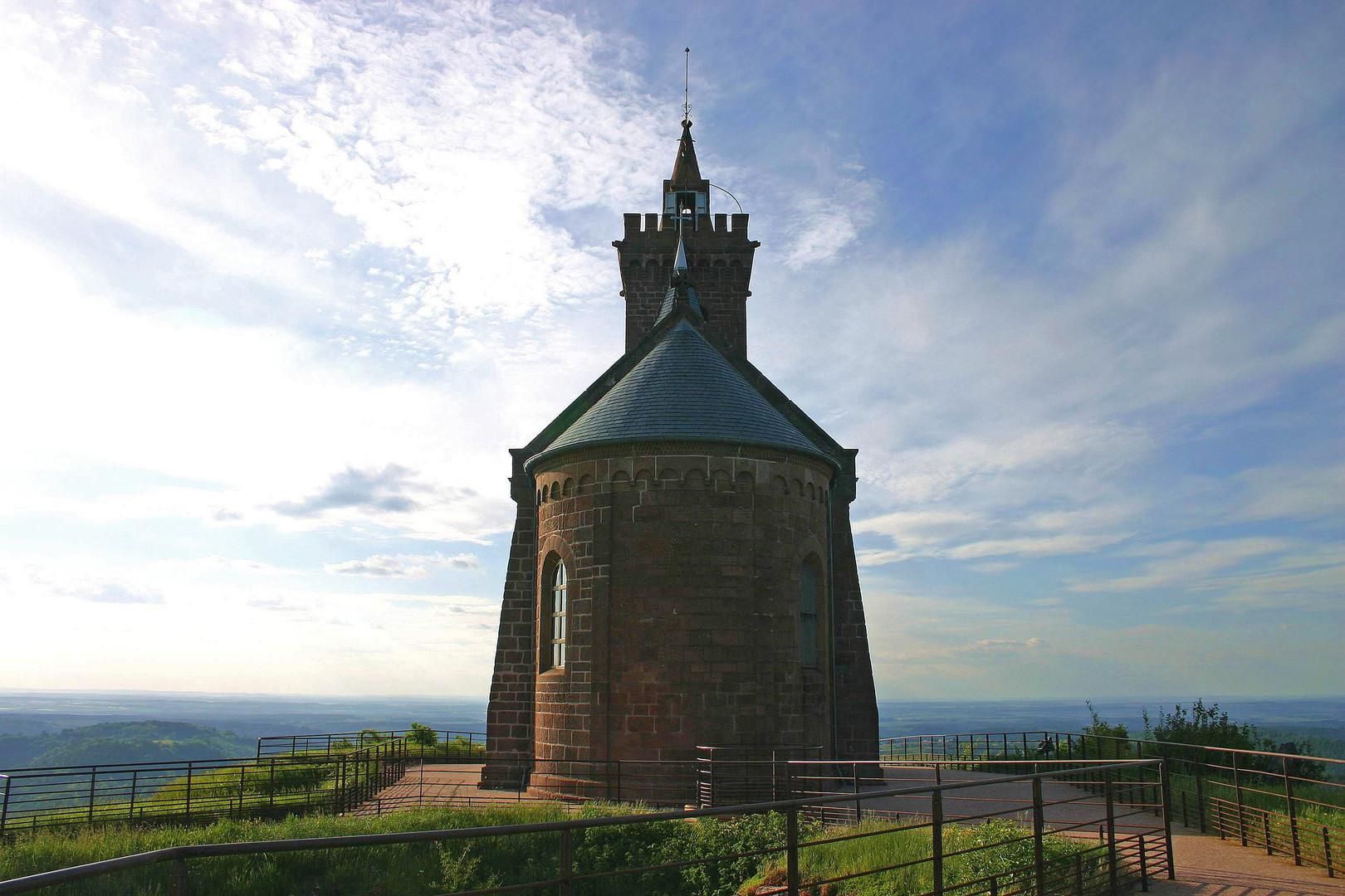 Kapelle auf dem `Rocher d´Abo` im Elsass