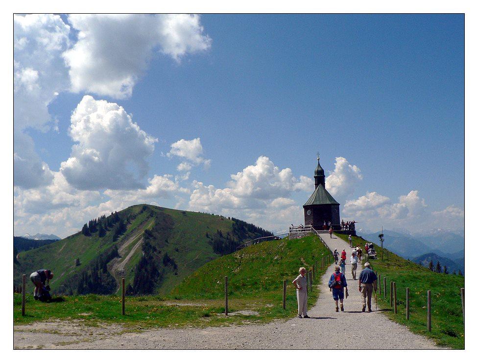 Kapelle auf dem Wallberg - ein beliebtes Ausflugsziel am Tegernsee