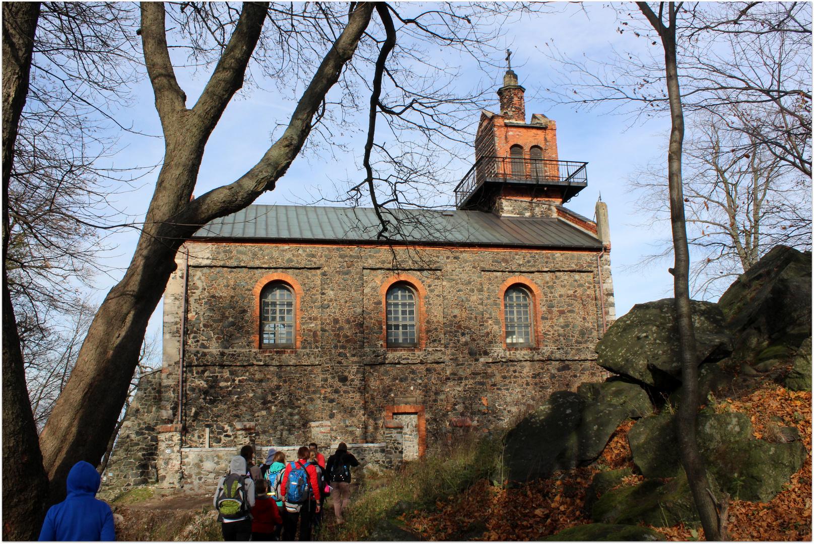Kapelle auf dem Zobtenberg bei Sobotka, in der Nähe von Wroclaw