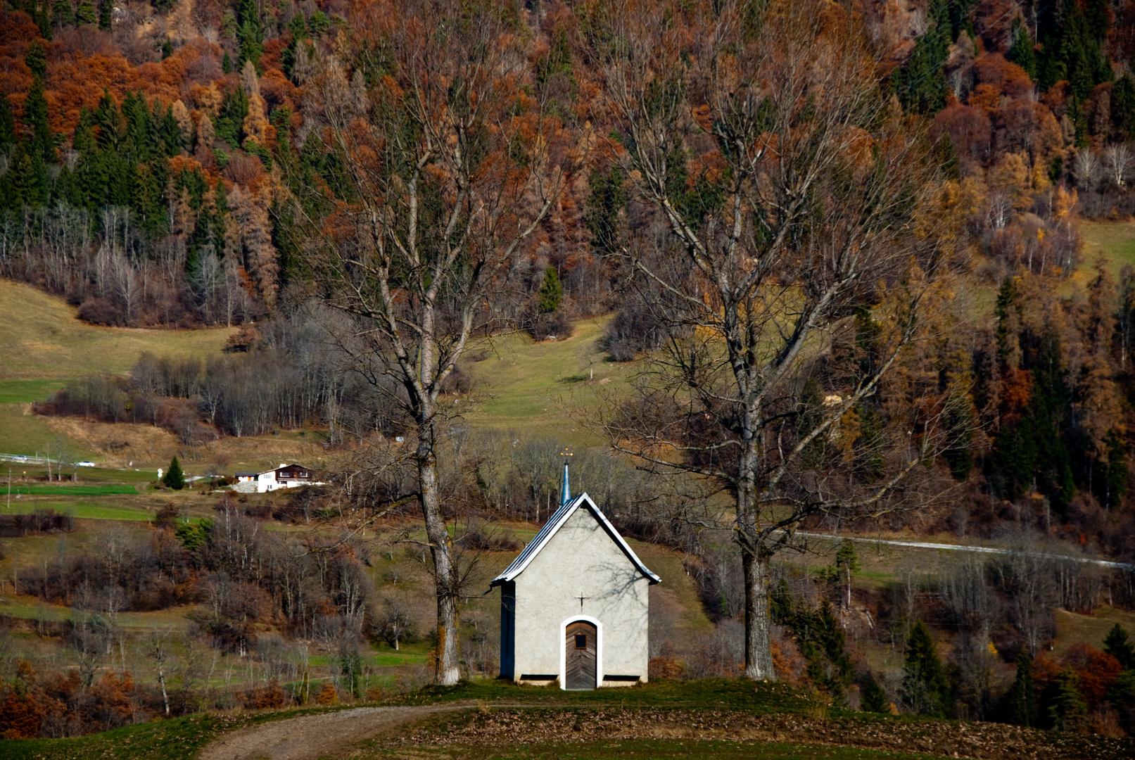 Kapelle Song Mang im Herbst