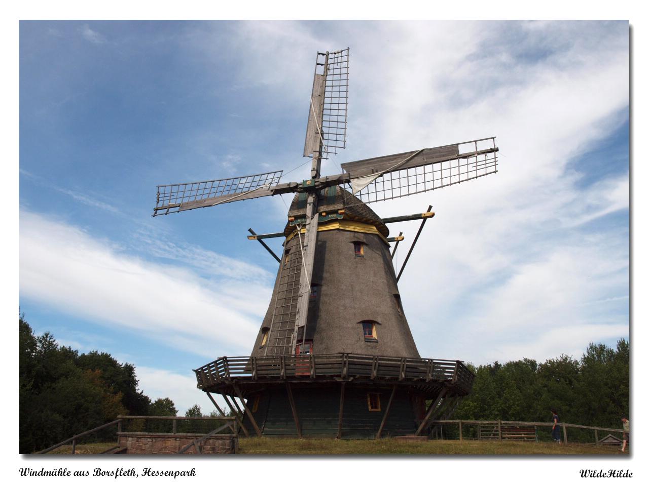Kappwindmühle aus Borsfleth, Hessenpark
