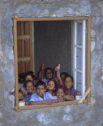 Kapverdische Fenster IV - Schule