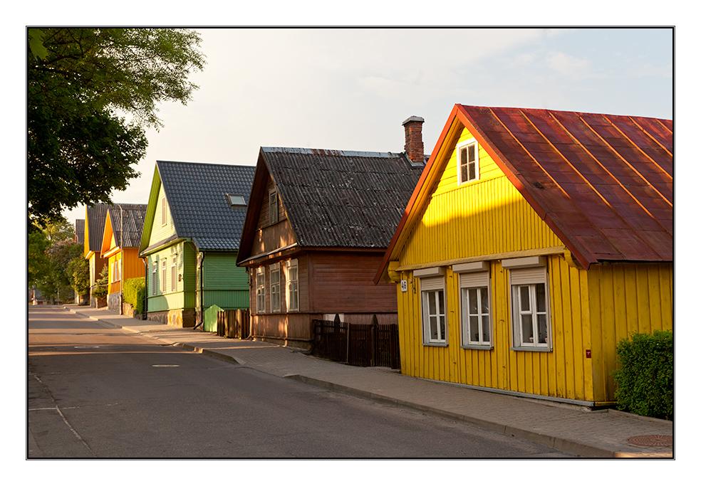 Häuser In karäer häuser in trakai litauen foto bild europe baltic states