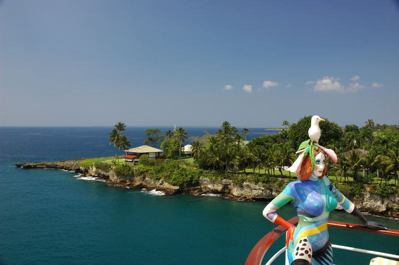 Karibik mit Möwe