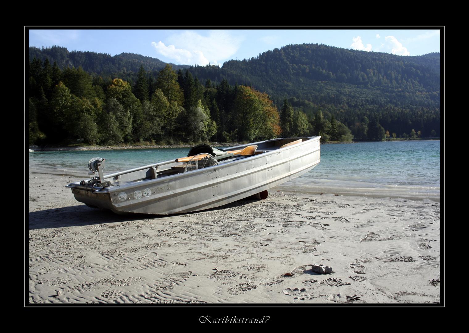 Karibikstrand am Walchensee?