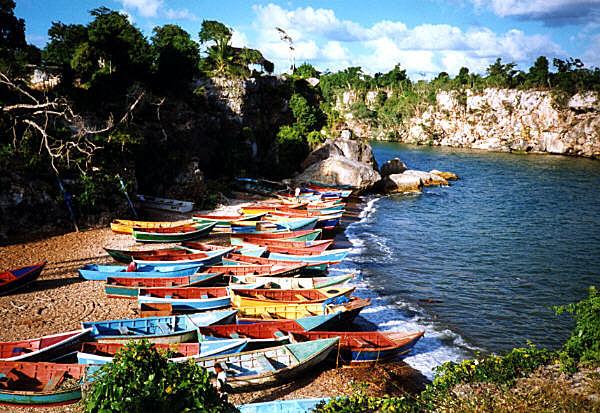 Karibische Fischerboote (2. Versuch)