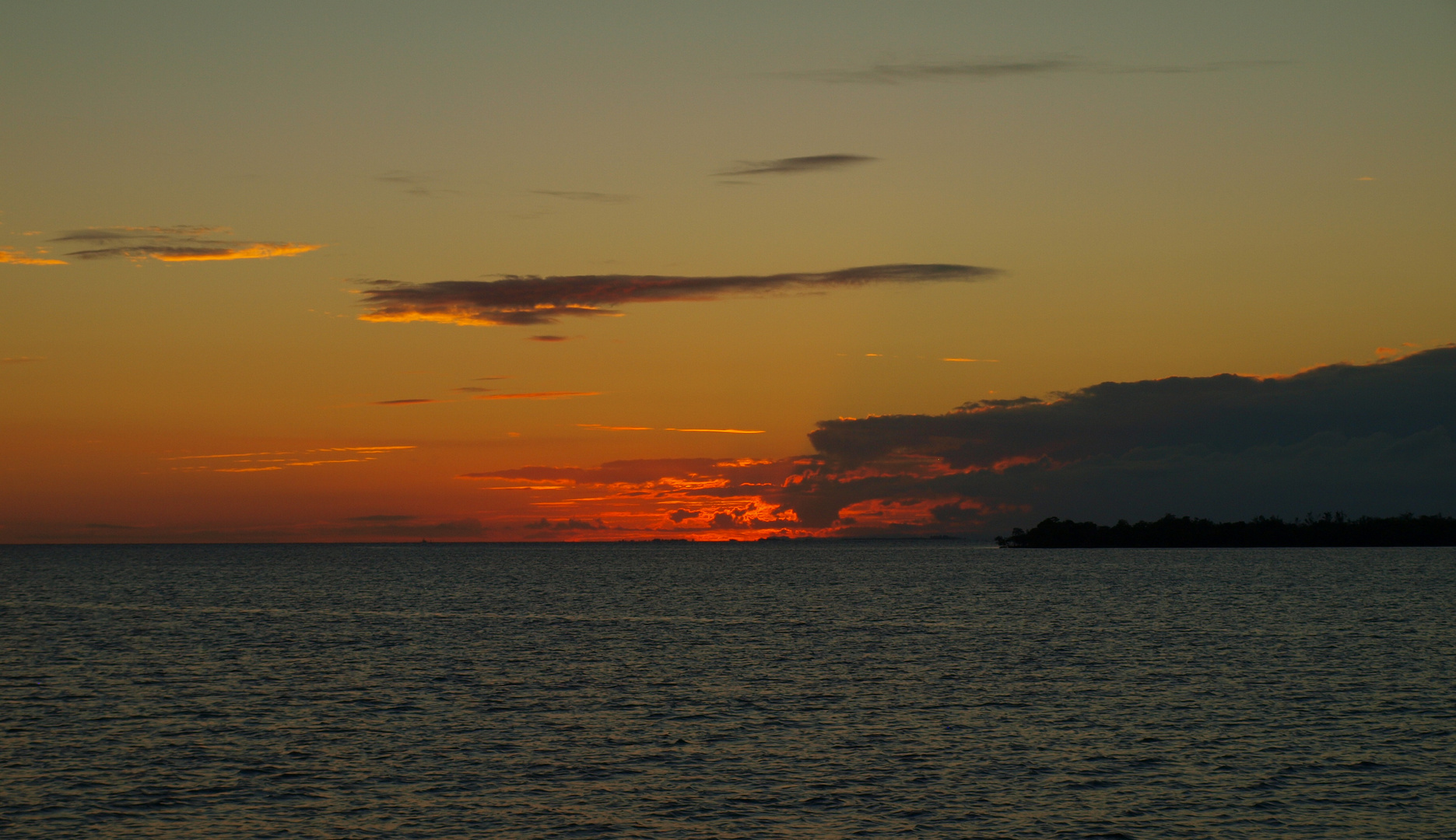 Karibischer Sonnenuntergang