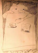 Karikatur :Blindate...ob sie wohl kommt ....uffff