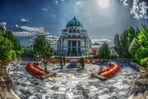 Karl-Borromäus-Kirche und Präsidentengruft auf dem Wiener Zentralfriedhof