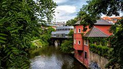 Karl Heine Kanal mit Blick auf´s Riverboat