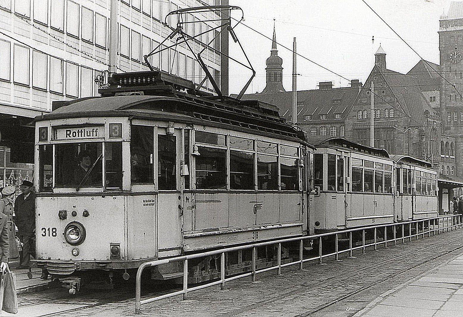 Karl Marx Stadt Februar 1984 318 einer der letzten Dreiwagenzüge