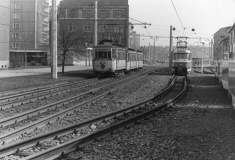 Karl Marx Stadt Februar 1984 Übergabestelle Schmalspur Regelspur