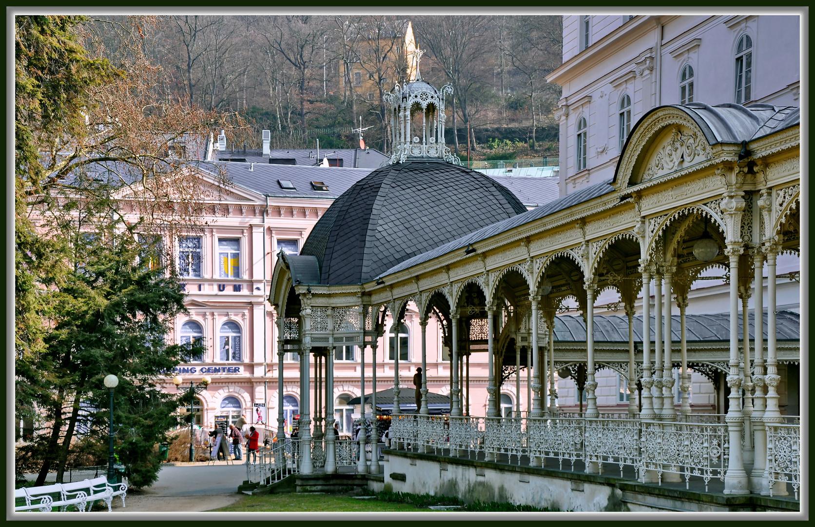 Karlsbad Tschechien, weiße Kolonnaden II