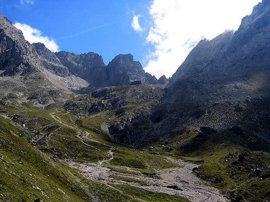 Karlsbader Hütte- in den Dolomiten