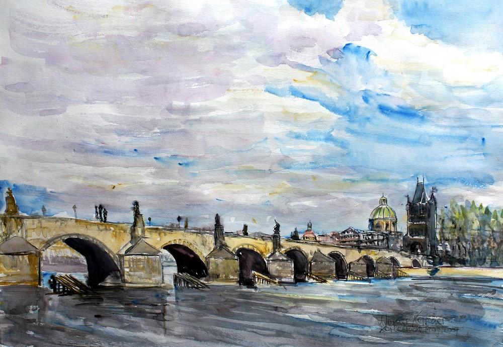 Karlsbrücke Prag - Charles Bridge Prague - Karluv  most praha