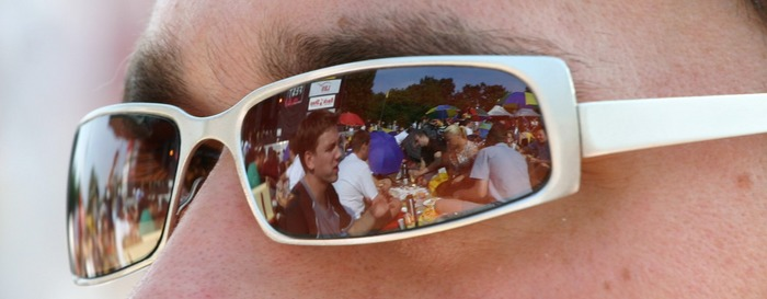 Karlsruhe das Fest in the sun glasses von Denis Brudermann