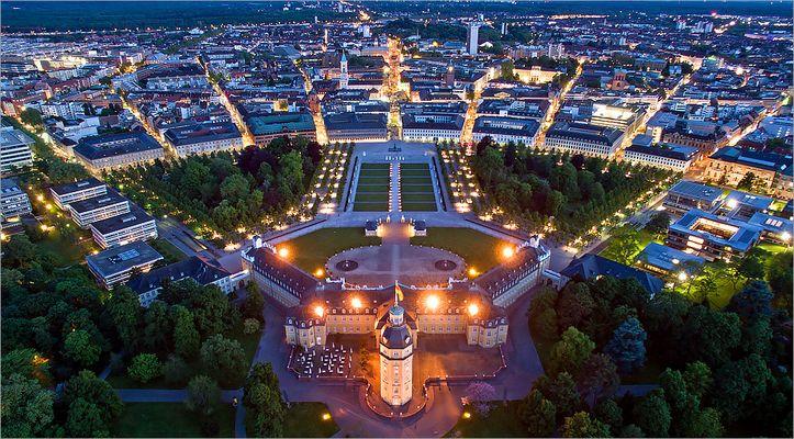 "Karlsruhe @ Night II ""Fliegendes Stativ"""