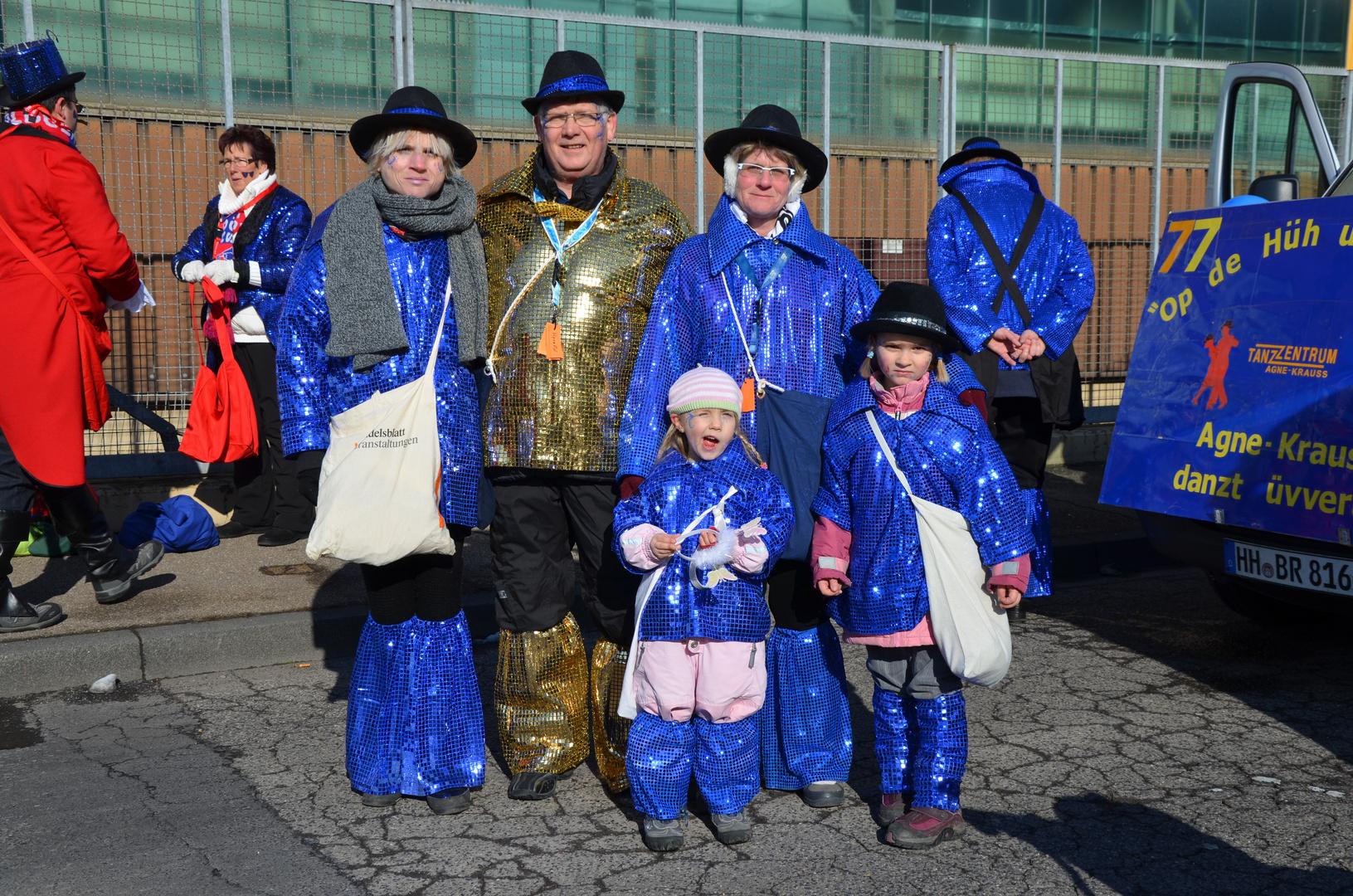 Karneval 2013 in Bergisch Gladbach mit Familie