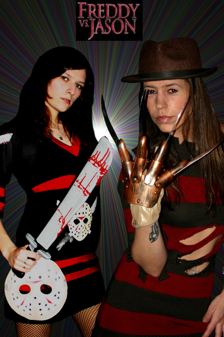 Karneval-Spass Freddy v.s Jason