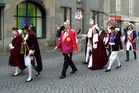 Karnevall in Bonn - heute 11. Jan. zeigten sich Prinz Holger I und Bonna Alexandra II