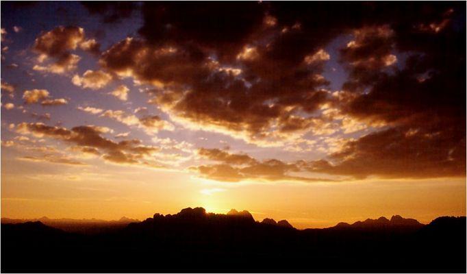 Karnische Alpen - Sonnenaufgang