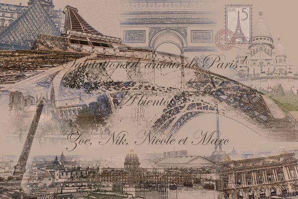Karte aus Paris