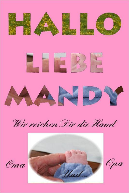 Karte für Mandy...unser drittes Enkelkind