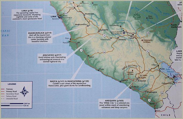 KARTE PERU - Reisetagebuch PERU