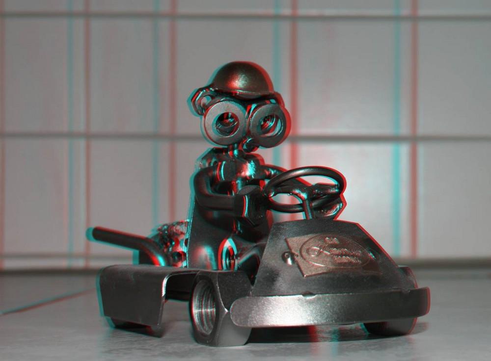 Kartfahrer in 3D II