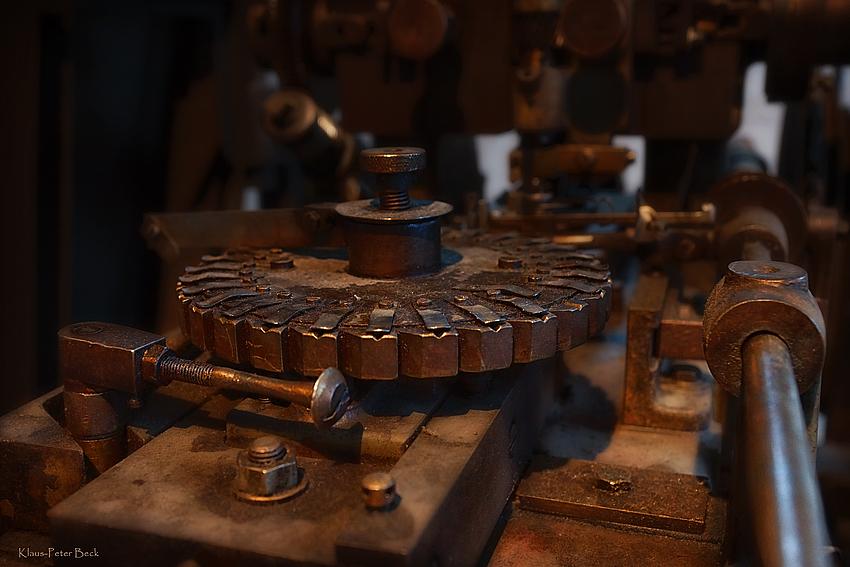 Karussell einer Nadelfräsmaschine