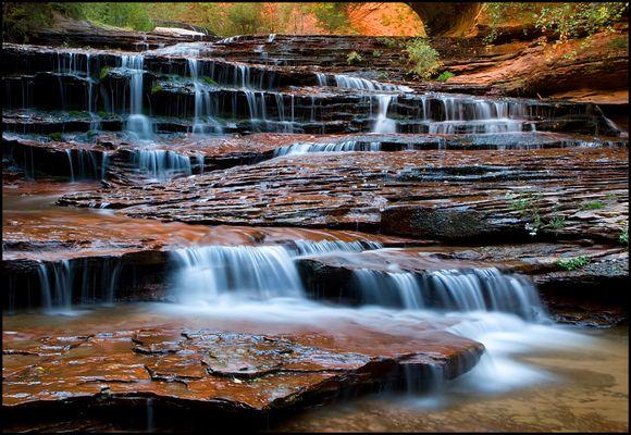 Kaskaden des North Creek