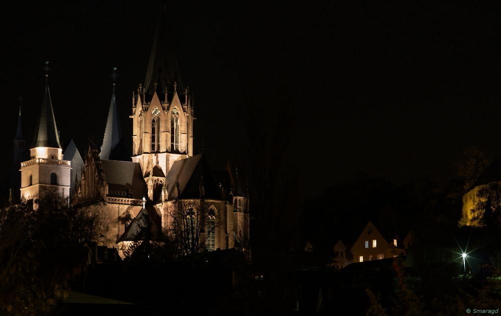 Katharinenkirche am Abend