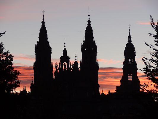 Kathedrale in Santiago de Compostela am Morgen