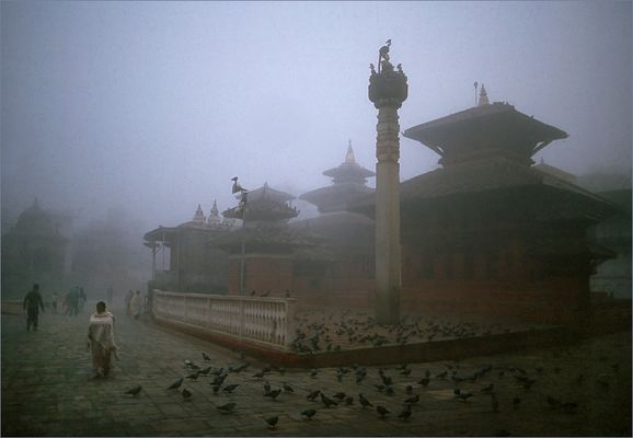 Kathmandu erwacht ...