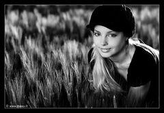 Katrin in the fields