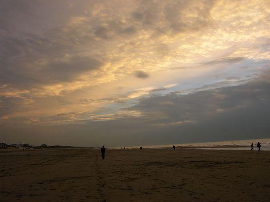 Katwijk Abenddämmerung
